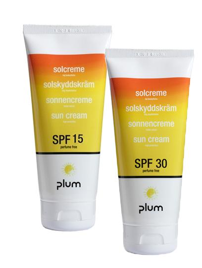 Plum SPF 15 SPF 30 sun cream