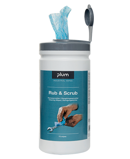 PlumWipes Rub & Scrub